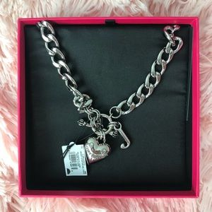 Juicy Couture Heart Shaped Necklace- Silver